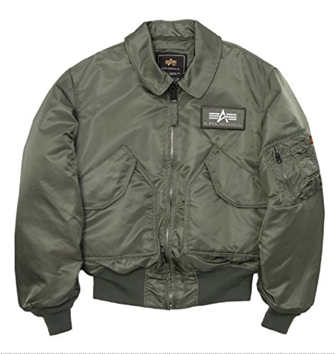 Alpha Industries Men's Cwu 45/P Flight Jacket sage (XS)