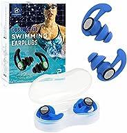 2 Pairs Ear Plugs for Swimming Adults, Hearprotek Reusable Custom-fit Swim Water Ear Plugs Men Women for Swimm