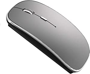 Wireless Mouse for MacBook Pro MacBook Air Laptop Mac iMac Desktop Computer (Gray)