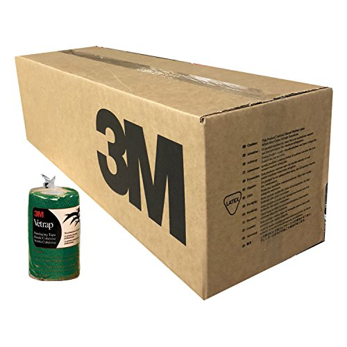 3M Vetrap 4in Bandaging Tape Hunter Green Case 100 Rolls 4in x 5yd by 3M (Image #1)