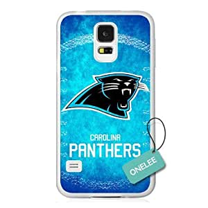 NFL Team Logo Iphone 5/5S Case Cover - Custom Personalized Carolina Panthers Hard Plastic Iphone 5/5S Case Cover - Transparent01