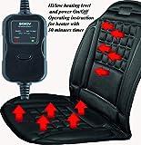 SOJOY- Universal 12V Heated Car Seat Heater Heated Cushion Warmer High/Low/Temp Swich, 30 Mins Timer (Black)