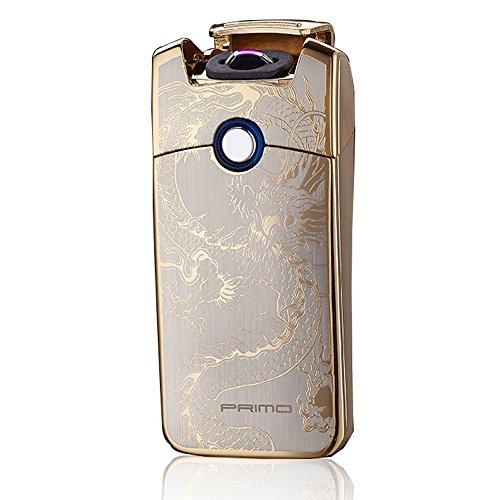 Primo USB Wiederaufladbares Windbeständiges Zigarette Tesla Arc Feuerzeug(Golden Dragon)