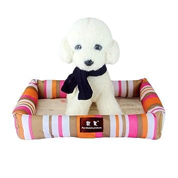 NANIH PetSuppliesMisc Cama para Perros de Verano Enfriamiento para Mascotas Colchoneta para Dormir Cojín para Cama de Gato Rosa y Naranja L para Perros: ...