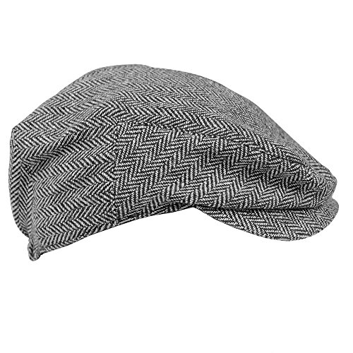 JuDanzy baby & toddler Plaid Cabbie hats (3-6 Months, Gray Tweed)