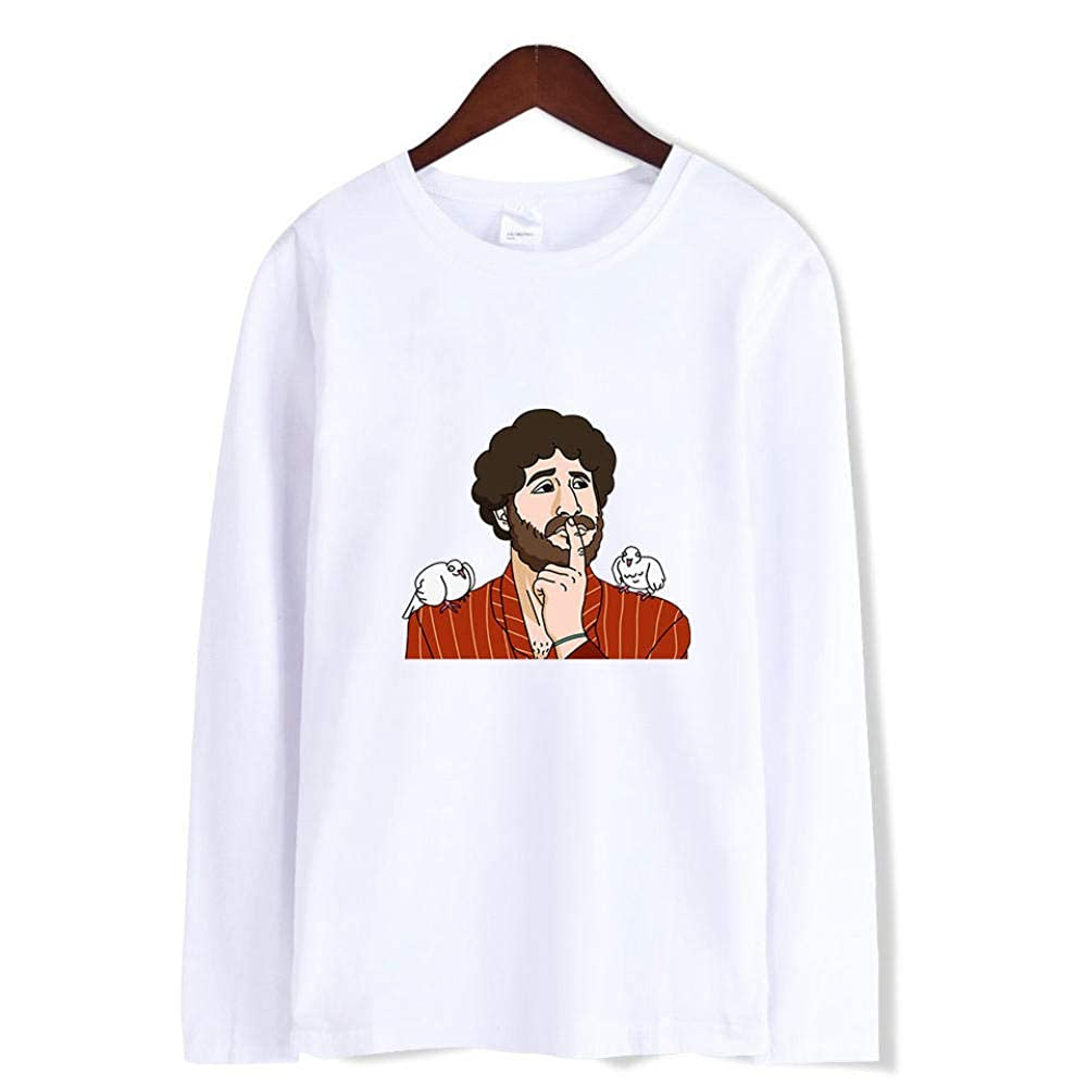 Printed Long-Sleeved T-Shirt,Digital Print Couple Comfortable Sweatshirts Exercise Fitness and Tights Sports Rogue Lil Dicky