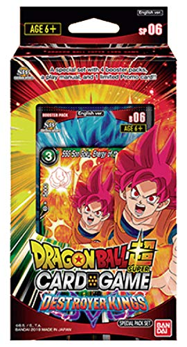 (Dragon Ball Super Series 6 Destroyer Kings Special Pack Box Set - 4 Booster Packs)