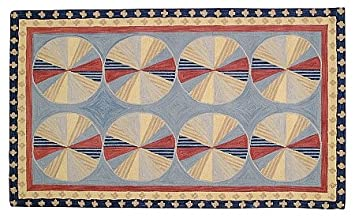 wool area rug 9x12 feet pinwheel blue