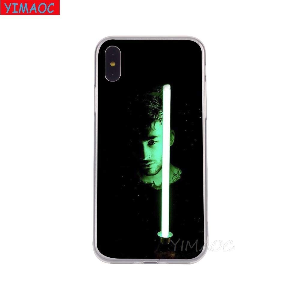 Blue Inspired by Zayn Malik Phone Case Compatible With Iphone 7 XR 6s Plus 6 X 8 9 Cases XS Max Clear Iphones Cases TPU Head Blue 32905234457 Like Autographed