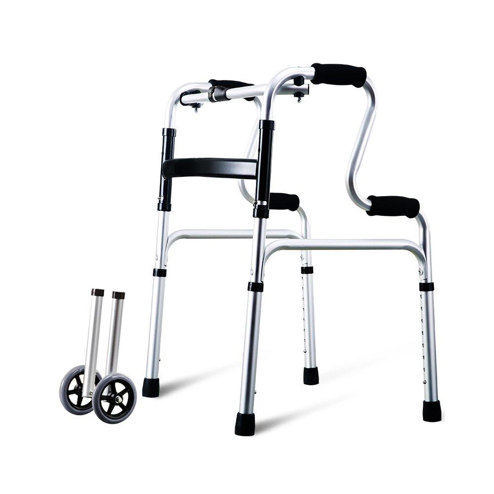 トイレシート 高齢者の松葉杖歩行スティック四足歩行ノンスキッド歩行援助四足老人歩く援助 (色 : Regular version+wheels) B07D9BSTLK Regular version+wheels Regular version+wheels
