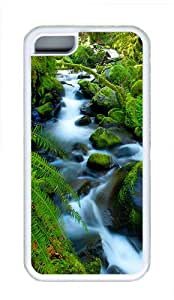 iPhone 5C Case Cover - Rivers Wonders Cool TPU Case Cover Protector For iPhone 5C - White