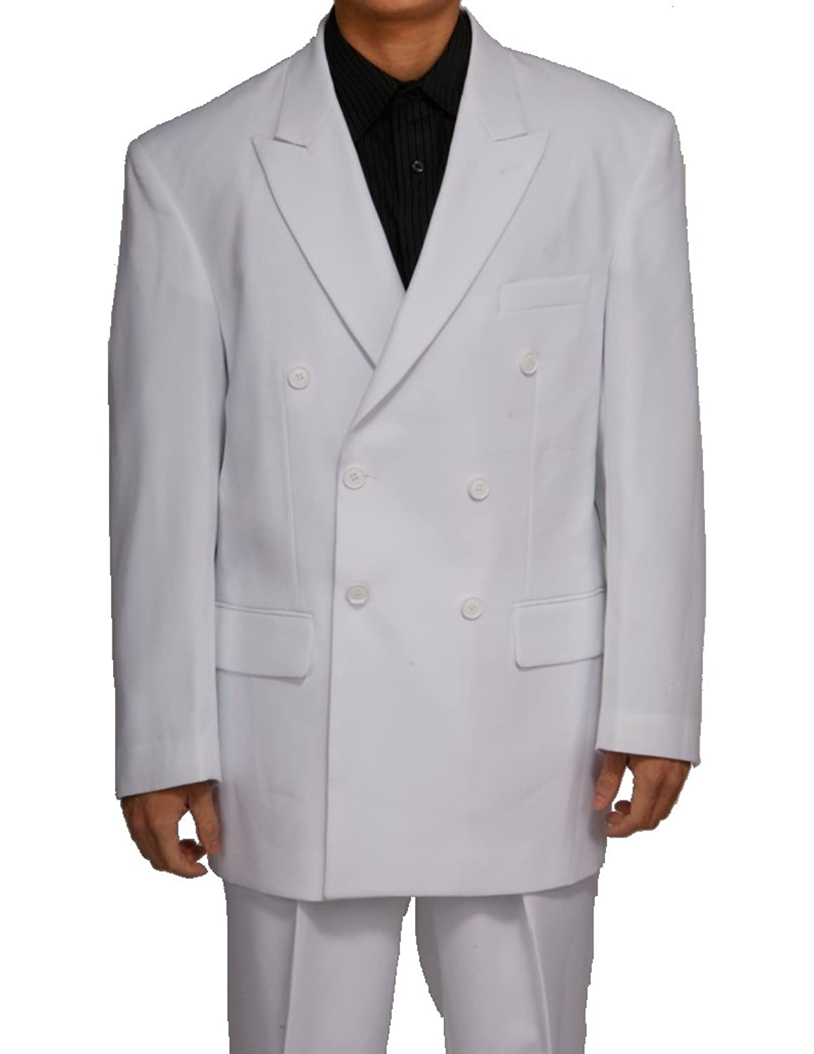 New 1940's Style Zoot Suits for Sale New Double Breasted (DB) White Mens Business Dress Suit  AT vintagedancer.com