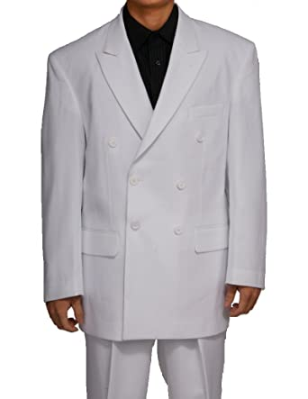 New Double Breasted (DB) White Men's Business Dress Suit at Amazon ...