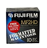 Fuji Film Floppy Disk MF2HD 11 Pack 3.5'' Formatted Macintosh