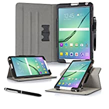 Galaxy Tab S2 8.0 Case, roocase Dual View Pro Galaxy Tab S2 8.0 Multi-Viewing Stand Folio Case Smart Cover for Samsung Galaxy Tab S2 8.0 (2015), Black