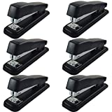Clipco Stapler with 2000 Staples Full Desk Size Black (Pack of 6)
