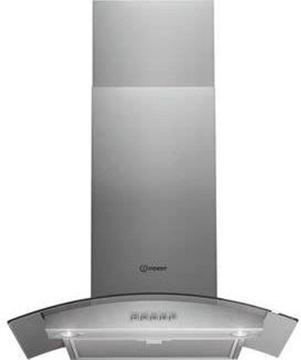 Indesit ihc6.5amix Campana curvado de cristal (60 cm, acero inoxidable: Amazon.es: Grandes electrodomésticos