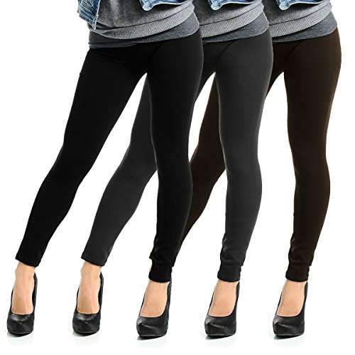 Fleece Lined Womens Leggings Footless Stretch product image