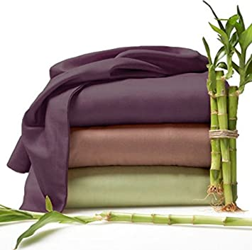 Bedding Sets  Eco Friendly Organic Bamboo Bed Sheets Size KING Color BEIGE
