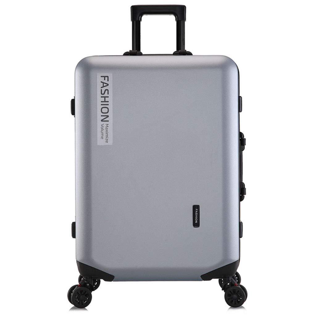 トロリーボックスカスタムPCジッパーユニバーサルホイール荷物ファッションビジネスパスワード20インチのボーディングアウトドアスーツケース (Color : シルバーグレー, Size : 26 inches.)   B07R5QRNXV