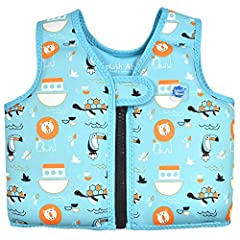 """""""The Go Splash Swim Vest from Splash About is the perfect vacation learn to swim aid. Lightweight and durable, the swim vest is made with slim floats that cannot be removed, allowing for easy packing and carrying. Manufactured to the highest ..."""
