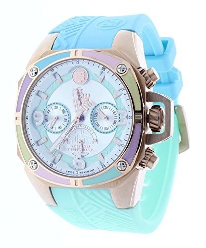 Technosport (TSW) TS-100-LIFE1M Women's Watch Light Blue & Mint Strap Swiss Multifunction Movement