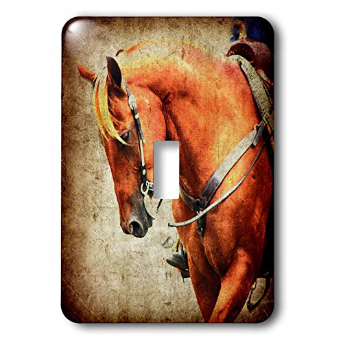 Cassie Peters Horses - Sorrel Western Horse Grunge - Light Switch Covers - single toggle switch (lsp_240268_1) (Western Light Switch Covers)