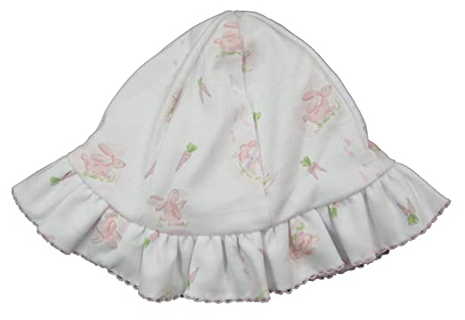 0c12ea7a93c12 Kissy Kissy Baby-Girls Infant Bunny Patch Print Floppy Hat-White With Pink-
