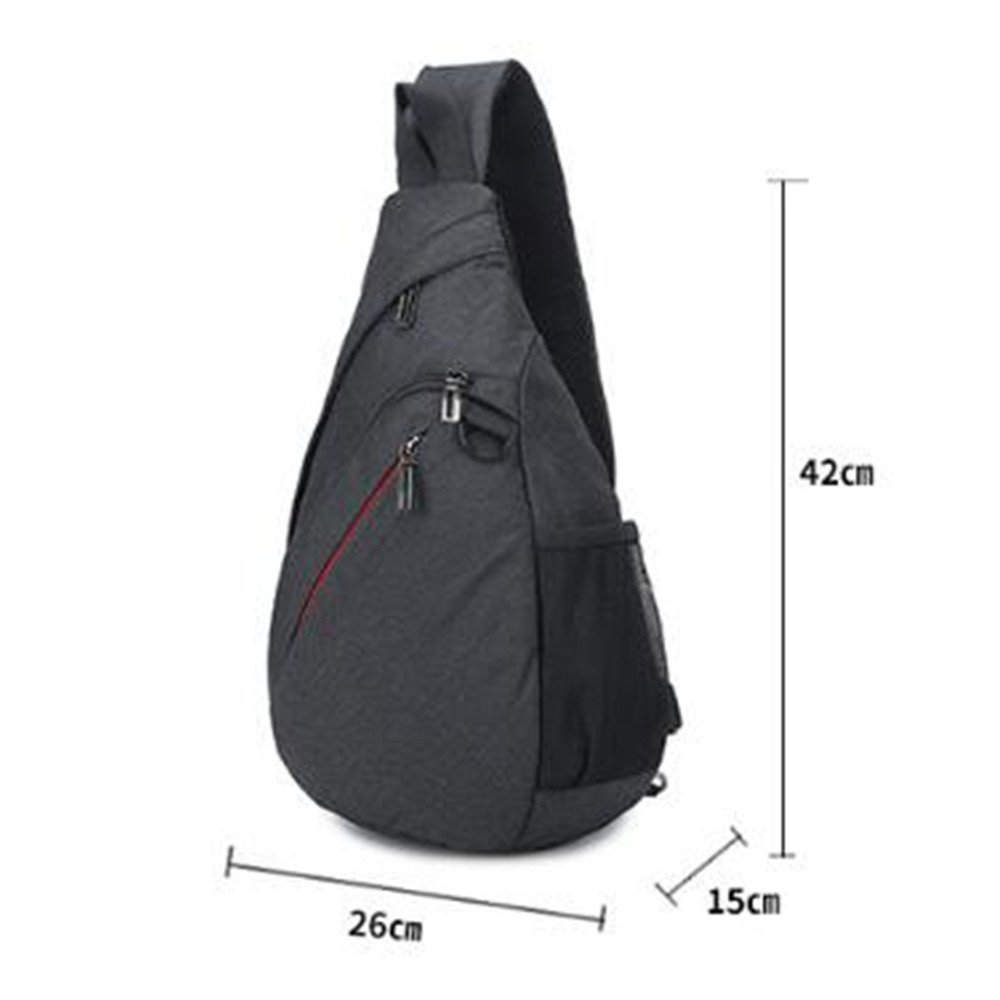 ef48e02dda GOUQIN Outdoor Backpack Classic Fashion Minimalist Backpack Trend Triangle  Bags Campaign Messenger Chest Package Leisure Bag Single Shoulder Bag  ...