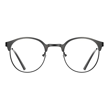 ecb605ac22696 TIJN Neue Rund Metall Brillengestelle Herren Brille Ohne Stärke  Metallgestell Brillenfassung Damen Herren