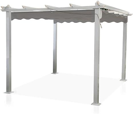 Cenador Astoria 3 x 4 m, postes de aluminio, cubierta desmontable, pérgola, porche GA802001/T