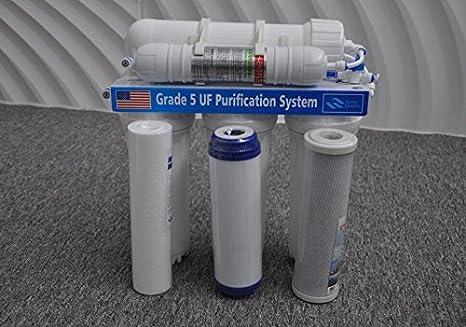 Láser filtros potable purificador de agua filtros de agua corriente 5 grados Ultra filtración filtro 5 grados filtro sin motor: Amazon.es: Bricolaje y herramientas