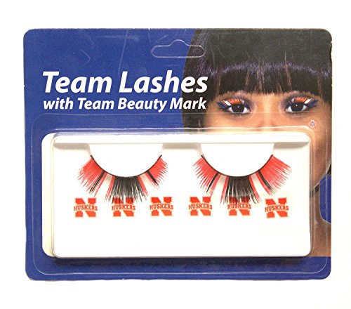 Little Earth Productions NCAA Licensed Team Lashes Eyelash extensions (Nebraska Cornhuskers) from Little Earth Productions