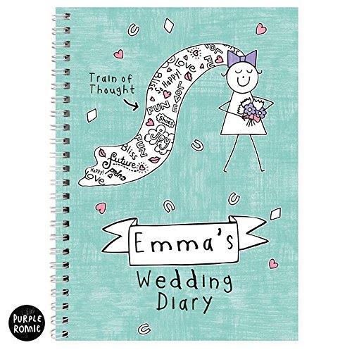 Personalizado Morado Ronnie Bride - Agenda de boda ...