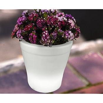 Instapark Flower Power Color changing LED Plant Pot White