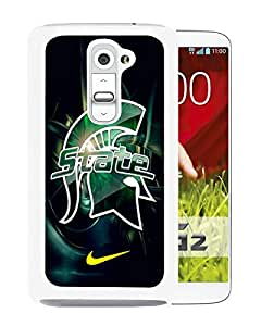 Beautiful Designed Case With Michigan State Spartans 01 White For LG G2 Phone Case