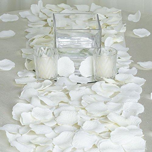 JASSINS 4000 Silk Rose Artificial Petals Supplies Wedding Decorations - Ivory