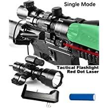Wenxy Red Dot Laser Sight with Predator Red or Green Long Range Rechargeable Hog Coyote Fox Varmint Night Hunting Light Flashlight with Scope mount, Rail Mount, Barrel Mount, Charger Kit