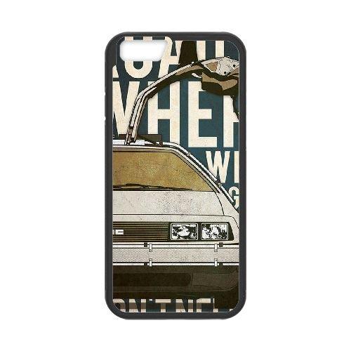 Back To The Future coque iPhone 6 4.7 Inch Housse téléphone Noir de couverture de cas coque EBDOBCKCO11125