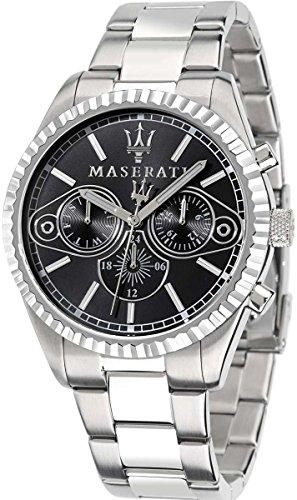 Maserati Men's Competizione R8853100010 Silver Stainless-Steel Quartz Watch