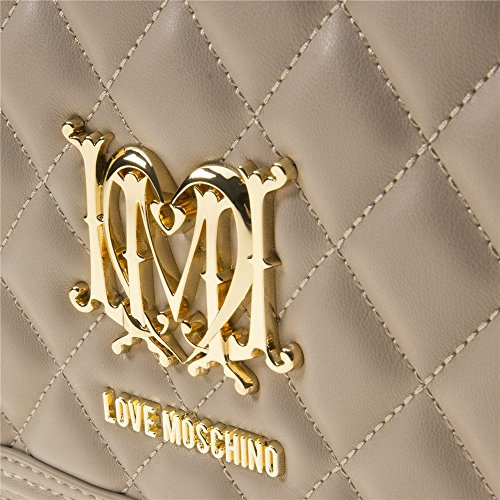 Love Moschino Quilted Chain Womens Handbag Natural by Love Moschino (Image #3)
