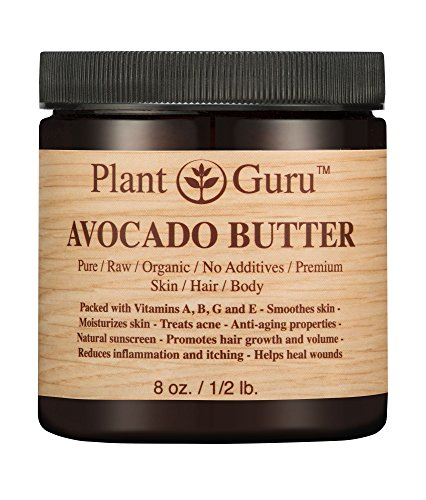 Avocado Body Butter 8 oz. 100% Pure Raw Fresh Natural Cold Pressed. Skin, Hair, Nail Moisturizer, DIY Creams, Balms, Lotions, (Avocado Body Butter)