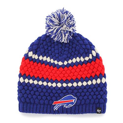 Bills Womens Socks Buffalo (NFL Buffalo Bills Women's '47 Leslie Knit Beanie with Pom, One Size, Royal)