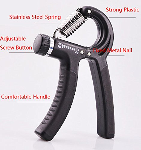 Tianhs Hand Grip Strengthener with Adjustable Resistance from 22 to 88 lbs