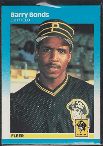 (1987 Fleer Barry Bonds Pirates Rookie Baseball Card #604)