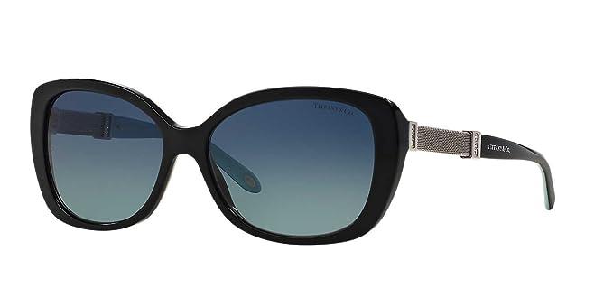 b83f35fb17 Tiffany   Co. Womens Sunglasses (TF4106) Black Blue Acetate - Polarized -