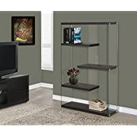 Cappuccino Hollow-Core/Tempered Glass 60H Bookcase