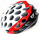 Catlike Whisper Plus - Casco de ciclismo, color blanco, negro y rojo