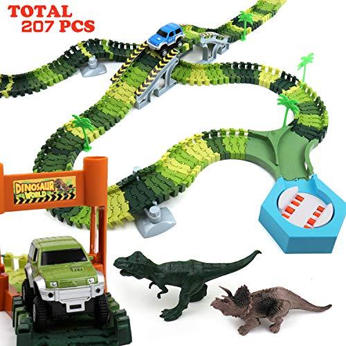 Klobroz Dinosaur Track Race Car Toys, 192 PCS