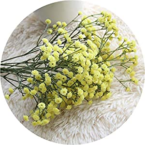 Get-in Artificial Flowers Baby Breath Floral Wedding Bouquet Party Artificial Flowers for Home Decoration Artificial Flower,Yellow,United States 96